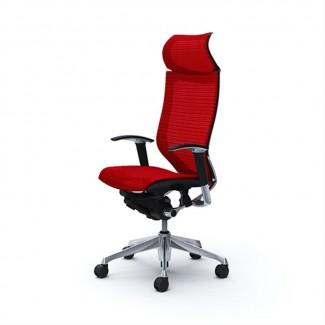 Эргономичное кресло OKAMURA CP полированный каркас RED сделано в Японии