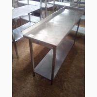 Стол производственный б/у из нержавеющей стали для столовой