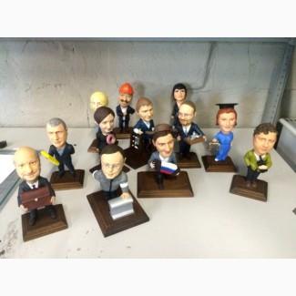 Заказать шаржевую статуэтку, шаржевых фигуроки и статуэтоки под заказ