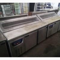 Стол холодильный б/у для пиццы EWT INOX PB2R саладетта б/у для кафе с гарантией