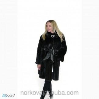 Теплая норковая шуба из меха Saga Mink