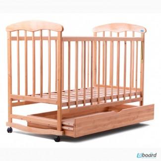 Кроватка Наталка с ящиком (светлая)