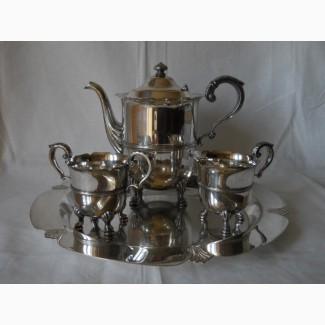 Старинный Голландский кофейный мельхиоровый набор