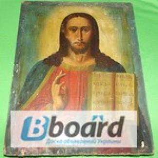 Старая икона рысованая на доске