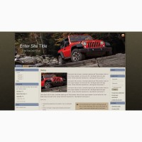 Продам шаблон/тема 2017 Jeep Wrangler Rubicon Red River для CMS Blogger/BlogSpot, Joomla