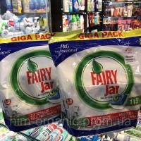 Капсулы для посудомойки Fairy Jar All in 1 - 115 шт