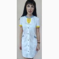 Женский медицинский халат Радуга