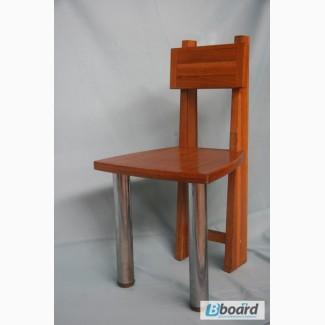 Деревянные стулья с металлическими ножками бу