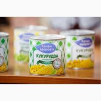 Кукурудза консервована, опт від виробника ТМ Качан здоров, я