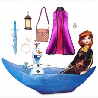 Кукла Анна с лодкой и Олафом. Холодное сердце 2, Disney