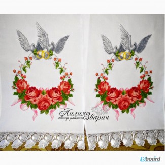 Рушник Свадебный венок вышивка крестиком