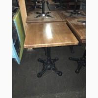 Стол на чугунной ноге б/у для ресторана, кафе, бара