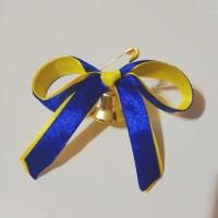 Колокольчики для первоклассников, выпускников (d-20мм) с сине-жёлтой лентой