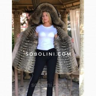 Парка с мехом енота raccoon и отстежкой на жилет Под Заказ
