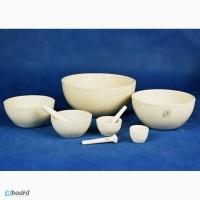 Керамическая лабораторная посуда -тигли, лодочки, ступки и песты