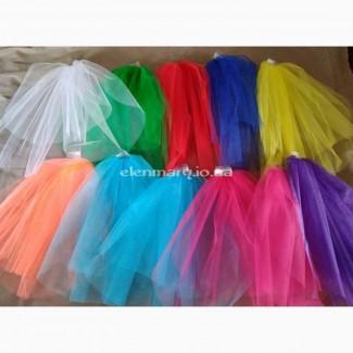 Цветная фата, фата для девичника, вечеринки