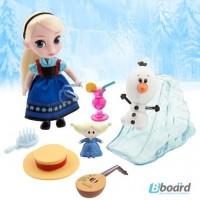 Кукла Эльза, мини малышка аниматор с набором игрушек