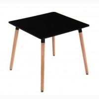 Стол обеденный Нури, квадратный 80х80 см, черный, белый