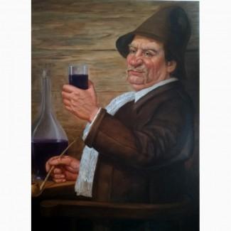Продам картину Молодое вино холст, масло