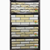 Кирпич облицовочный ECOBRICK скала, гладкий, мраморный, луч разные цвета