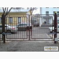 Ворота автоматические, металлические.