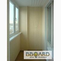 Обшивка балконов и лоджий фото, монтаж сушки для белья, откосы киев