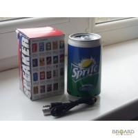 Портативная колонка-MP3 плеер в виде банки