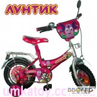 Продам детский двухколесный велосипед 14 дюймов Лунтик 131406 со звонком и ручным тормозом
