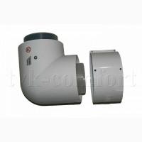 Отвод коаксиальный 87 80/125мм.Vaillant арт.303210 из ППР