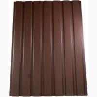 Профильный лист ПС-10 в коричневом цвете, профнастил распродажа от ЗАВОДА