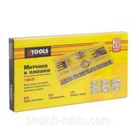 Набор метчиков и плашек Hermes Tools 20 единиц М3-М12 с держателем, цена за набор 250 гр