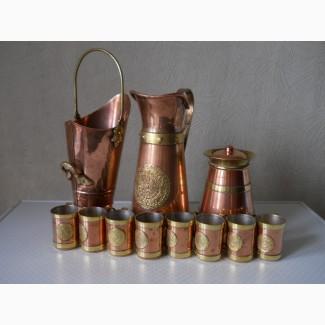Старинный набор посуды (медь-латунь)