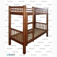 Кровать деревянная двухъярусная односпальная / Кд-1