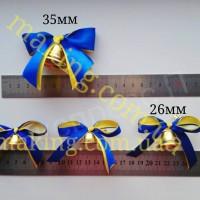 Колокольчики для первоклассников, выпускников (d-26мм) с сине-жёлтой лентой