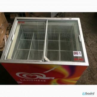 Продаётся ларь морозильный Б/У со стеклом в хорошем рабочем состоянии