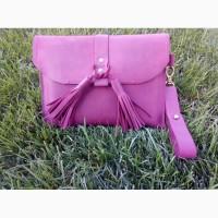 Женская сумка/Клатч винного цвета