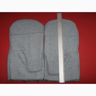 Рукавицы рабочие из джинсового материала с наладонником