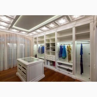 Изготовление гардеробных на заказ Киев
