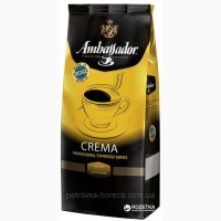 Кофе в зернах Ambassador Crema 1кг. 60/40 EU