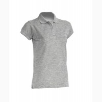 Женская футболка-поло темно серый меланж