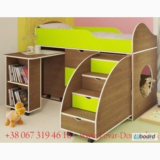Кровать-чердак новая со столом и лестницей-комдом. Даром