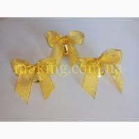 Колокольчики для выпускников школ и детских садов (d-26мм) с золотой лентой
