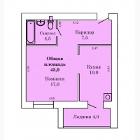 1к.квартиры 43 м.кв./ЖК Новый Северный ІІ/от Застройщика