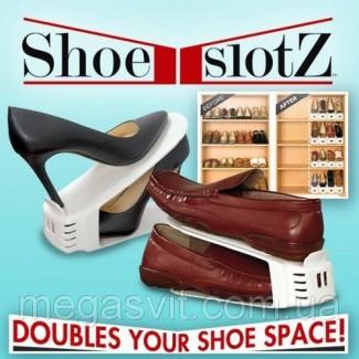 Подставка для обуви двойная Shoe Slotz (органайзер для обуви) 6 шт