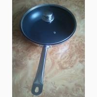 Экологическая сковорода 30 см. индукция с крышкой, пательня на ПОДАРОК