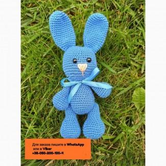 Амигуруми зайка заяц вязаная игрушка 19 см. ручная работа hand made для малыша зайчик