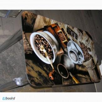 Производим стеклянные обеденные столики с фотопечатью