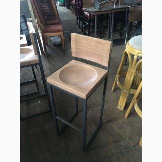 Барный стул б/у со спинкой в стиле лофт для ресторана, кафе, бара