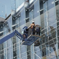 Работа для фасадчиков. Стеклянный фасад в Литве