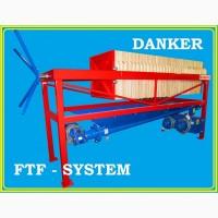 Фильтр-пресс напорно-вакуумный, полуавтоматический, рамочный danker